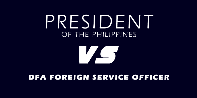 PRESIDENT VS FOREIGN SERVICE OFFICER